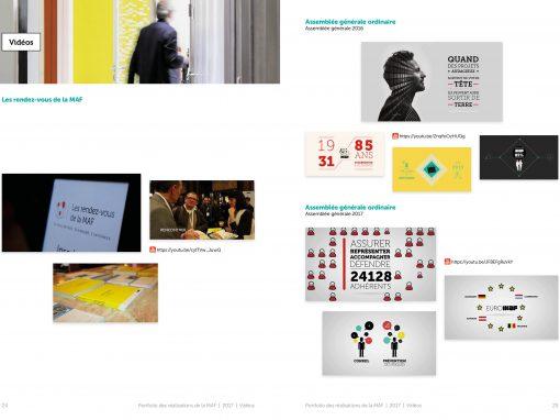 Portfolio des réalisations 2017 de la Mutuelle des Architectes Français assurances