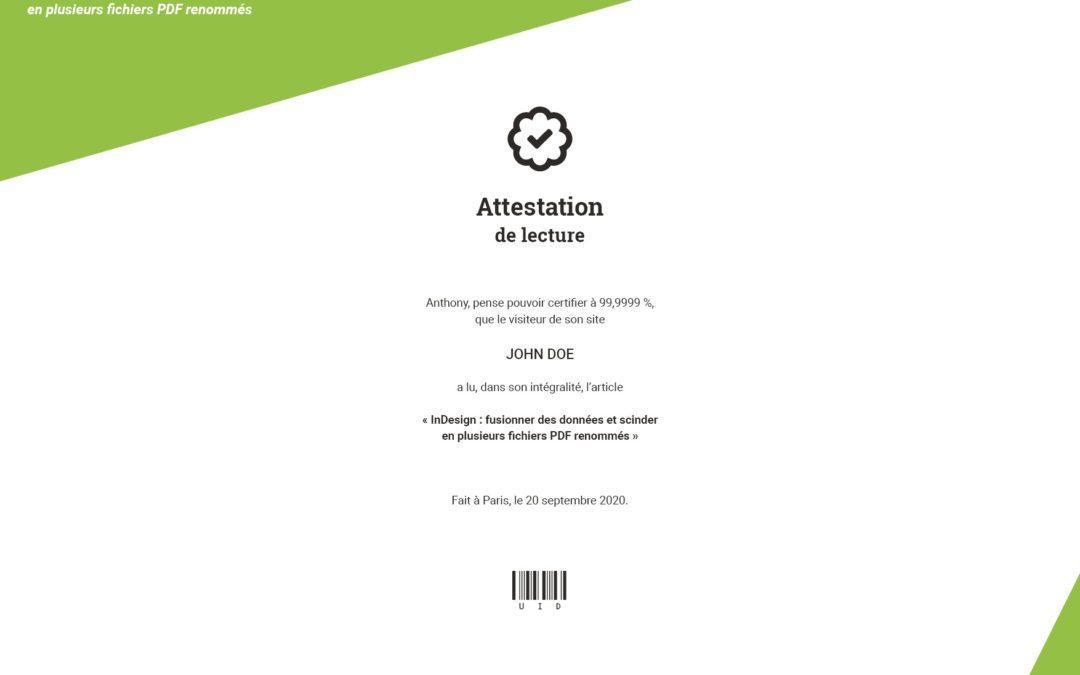 InDesign : fusionner des données et scinder en plusieurs fichiers PDF renommés